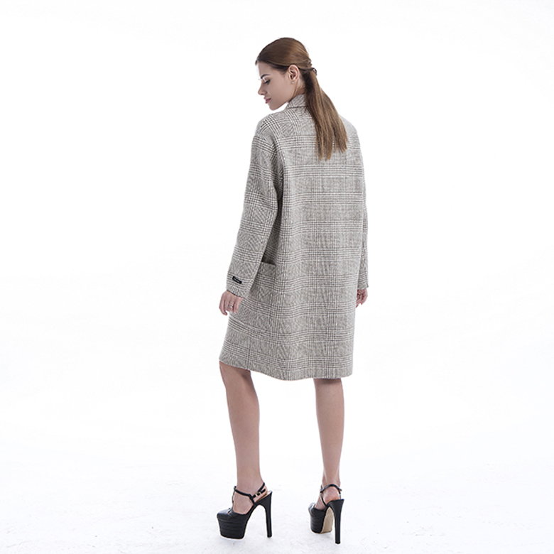 Fshion Double-breasted Cashmere Blended Overcoat