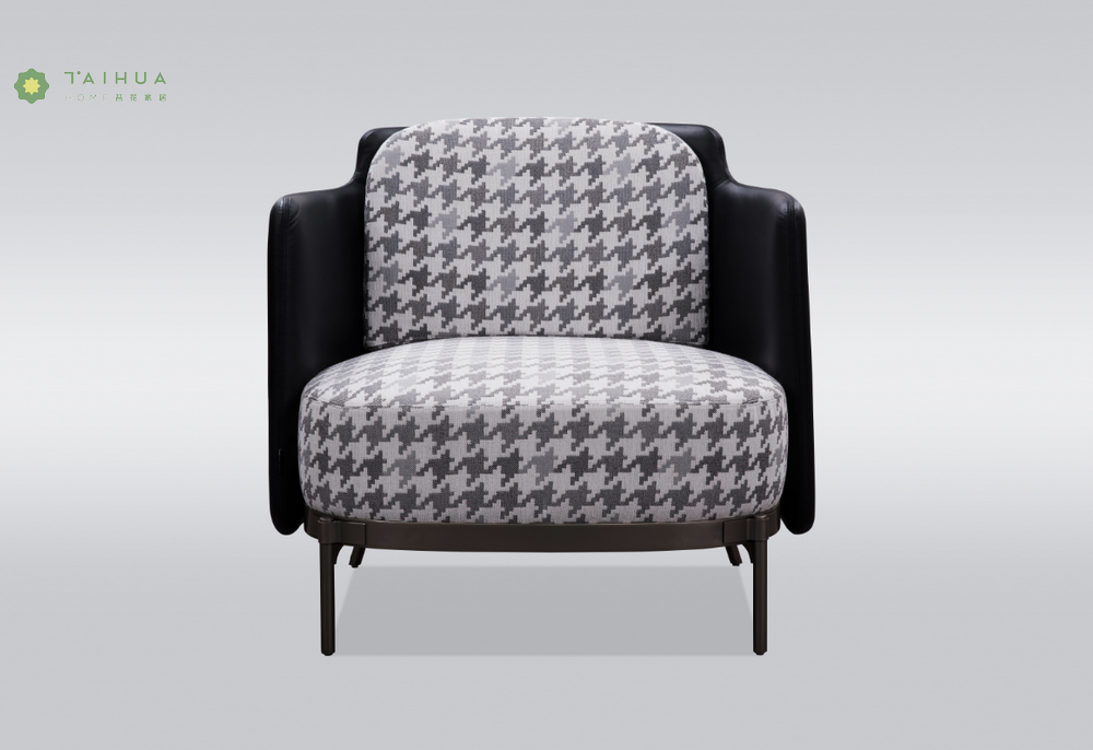 Single Seater Sofa With Fabric Cushion