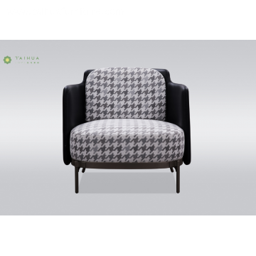 Metal Legs Single Seater Sofa With Fabric Cushion