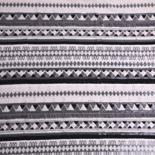 Black White 3D Tassel Multicolor Sequin EMbroidery Fabric