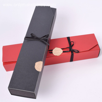 Ribbon tied Gift Boxes For 6pcs Chocolate Packaging