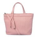 Wallace Large Tote Pink Zip Top Leather Carryall
