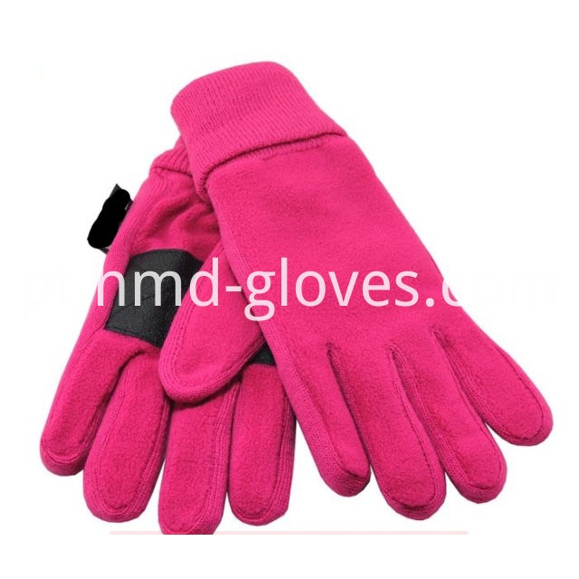 fleece gloves with leather on palm