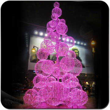 Led Sky blue white ball metal Christmas Tree