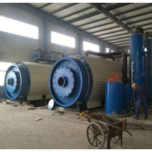 Automatic old rubber pyrolysis plant