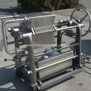 Stainless steel and the Framework's filter chamber press