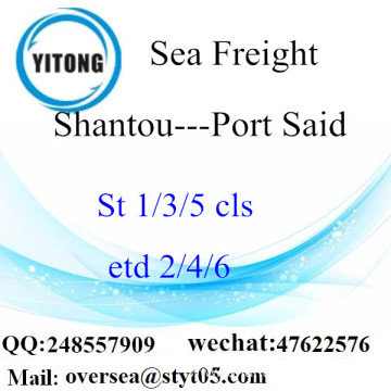 Shantou Port LCL Consolidation To Port Said