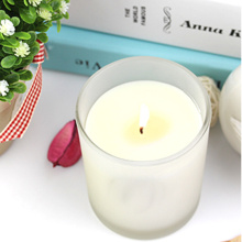 Scented Soy Candle in White Color Frosted Jar