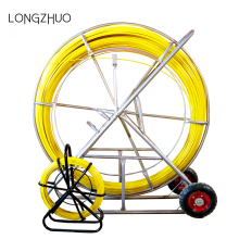 350m Fiberglass duct rodder with frame and wheel
