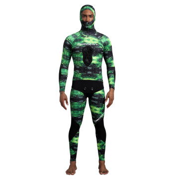 Seaskin 5MM Camo Pattern Neoprene DivingSuit