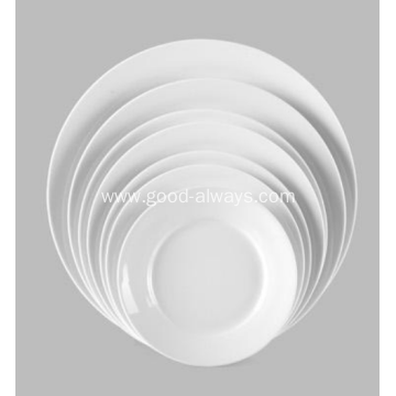 white porcelain dish dinner plate