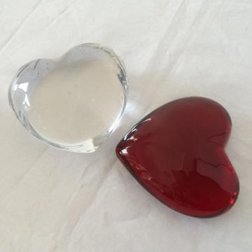 Heart Shape Glass Paper Weight