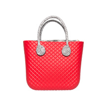 Customized for O Bag Amazon 2018 EVA women latest fashion red hand bags export to Netherlands Manufacturer