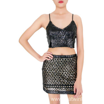 Mini Party Sequin Skirt Polyester