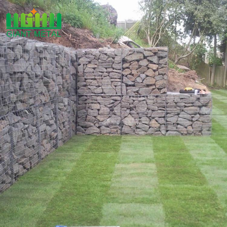 Galvanized Welded Gabion Box Stone Cage for Decoration