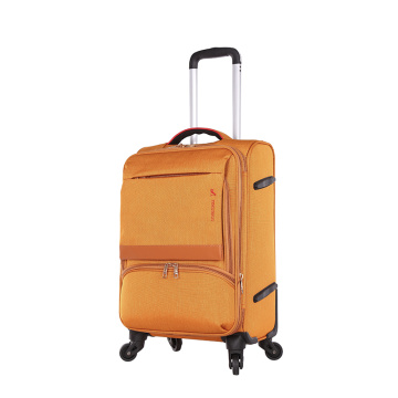 Wholesale promotional custom design  fabric EVA luggage