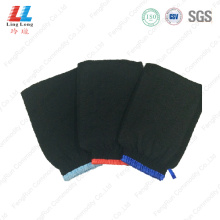 Black style exfoliating gloves bath wholesale