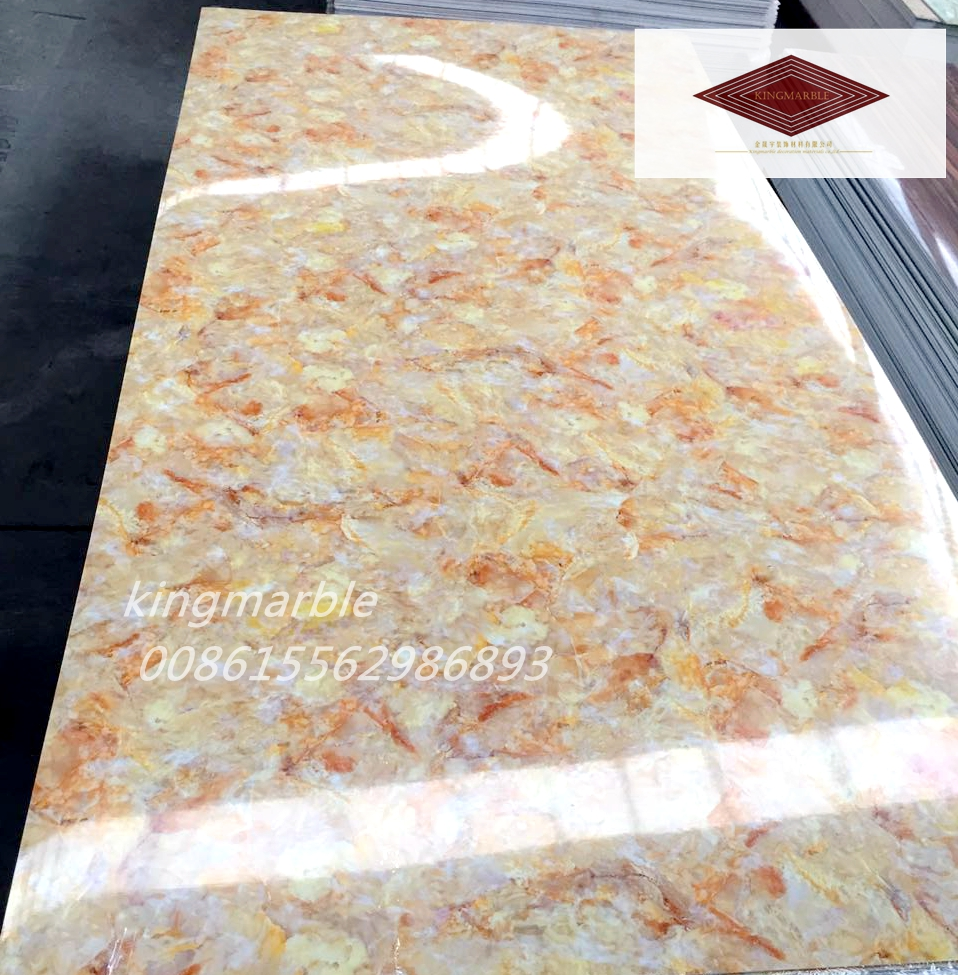 uv marble sheet used for wall decoration