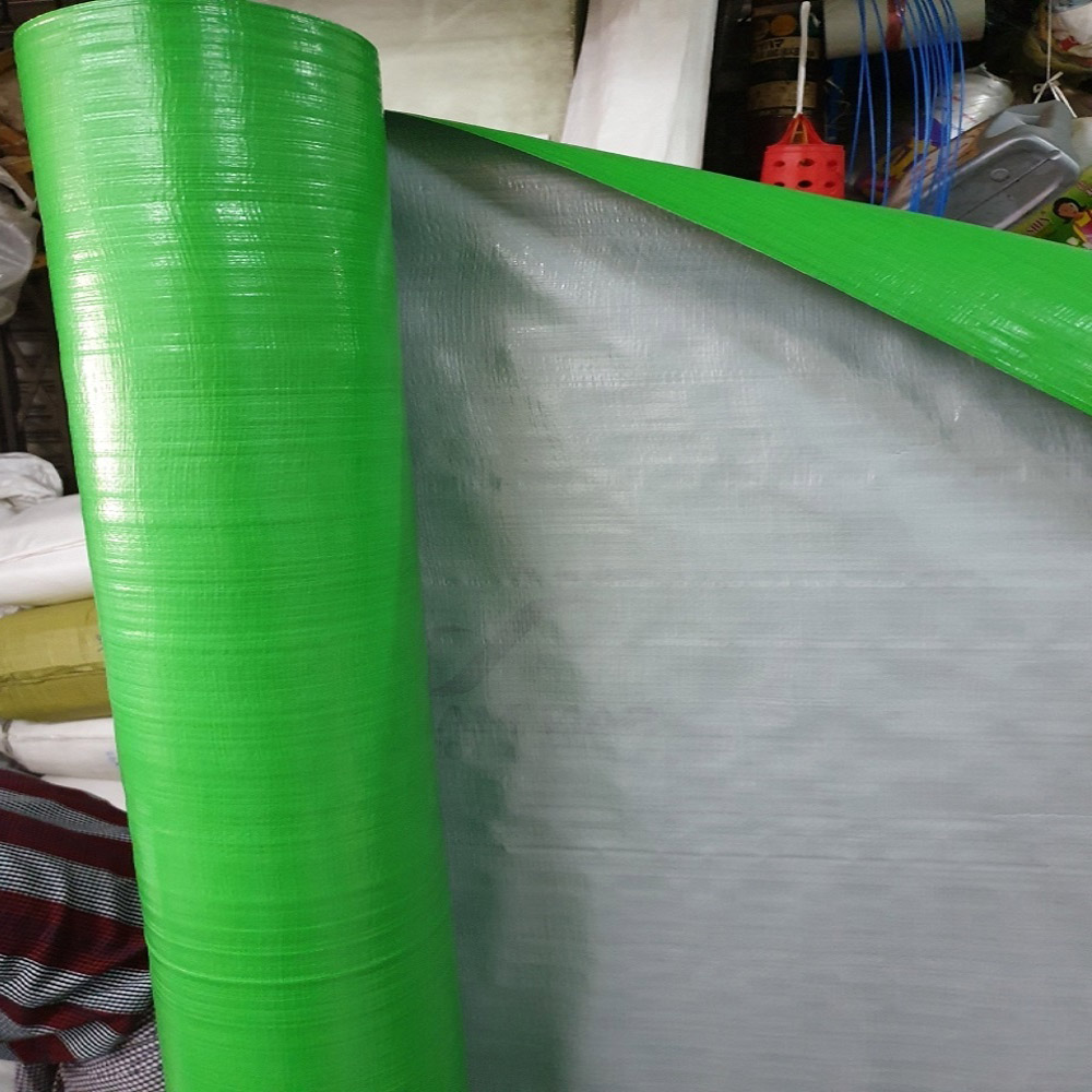 6FT x 100 Yard Green Silver Tarpaulin Roll