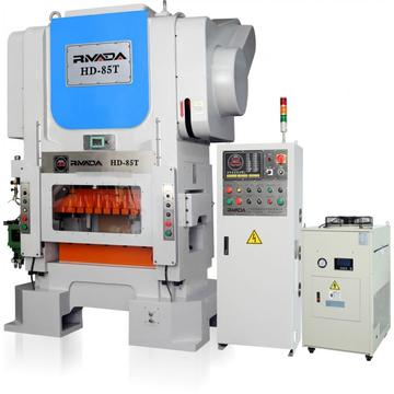 High speed press line for making LED parts