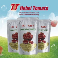 Supply for Sell Sachet Tomato Paste, Double Concentrated Tomato Paste From China Manufacturer Flat Sachet Tomato Paste brix 28 30 export to Singapore Importers
