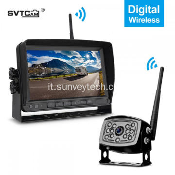 Sistema di monitoraggio del veicolo Kit di sistema per telecamera di backup wireless digitale HD 720P da 7 pollici