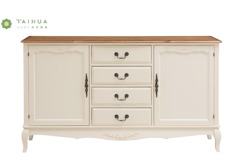 Solid Wood 4 Drawers Chest