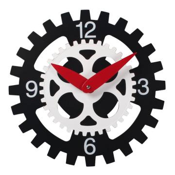 Simple turning plastic wall clock