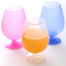 Manufacturer for for Wholesale Wine Glasses Good Quality Silicone Tableware Silicone wine Cup export to France Metropolitan Factory
