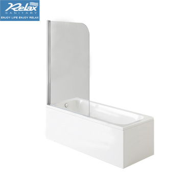 Acrylic rectangle shower bathtub with screen