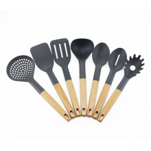 Wholesale Dealers of for Nylon Cooking Tools 7pcs Beech wood handle Kitchen Nylon utensils set supply to South Korea Wholesale