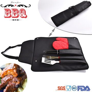 barbecue tools set with high quality wooden handle