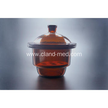 Desiccator with Porcelain Plate Amber