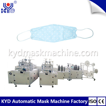 Korea Disposable Fishing Boat Type Mask Making Machine
