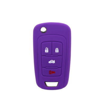 Buick silicone car key cover 4 botões