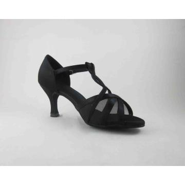 Ladies black dance shoes with mesh