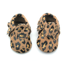 New Leopard Moccasins Leather Baby Shoes Wholesales