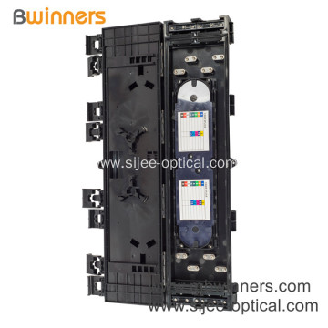 24 Fibers FTTH Indoor Outdoor Distribution Box with 2 PCS 1*8 PLC Splitter
