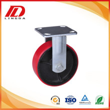 5'' heavy duty rigid casters with pu wheels