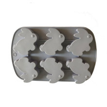 6 Cavity Chocolate rabbit Ice tray Cube Moulds