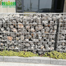 Gabion Basket Wall With Fence On Top