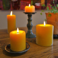 "100% Pure Raw Beeswax Pillar Candle 3""x 4"""