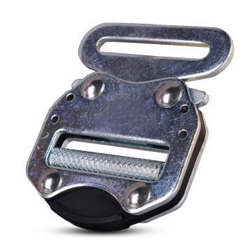 45mm Heavy Duty 18KN Metal Blue Electro Galvanized Tactical Military Cobra Belt Buckle With Black Electrophoresis