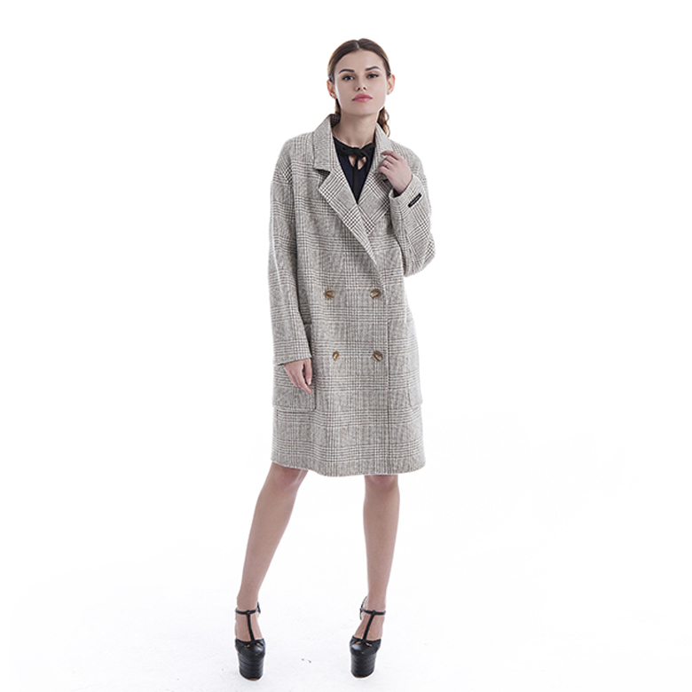 Classic double-breasted cashmere overcoat