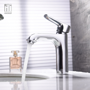 Factory supplied for Wash Basin Black Faucet HIDEEP Copper Single Handle Basin Mixer supply to India Exporter