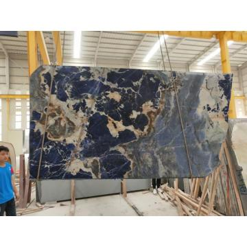 Big blue sodalite kitchen countertop