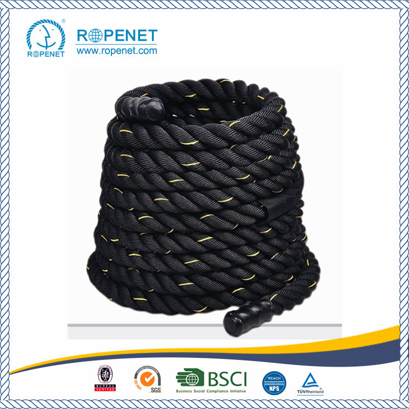 Black 2 inch Poly Dacron Rope