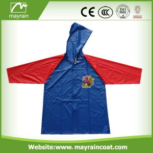 Bright Color PVC Raincoat For Kids