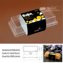 plastic PVC sushi snack food tray box