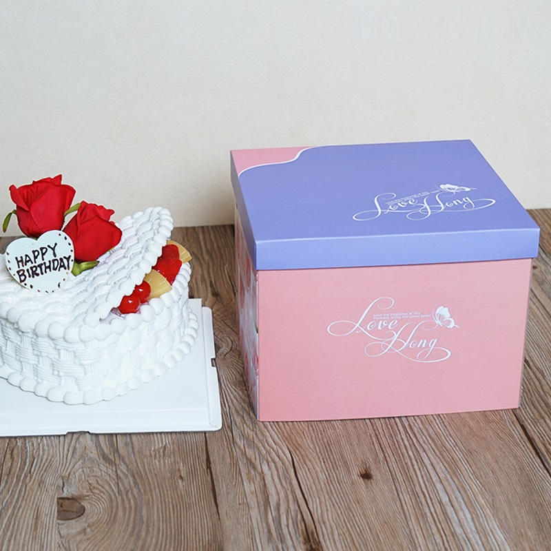 Box packaging design birthday cake